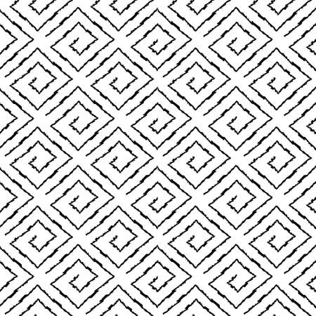 Seamless pattern with geometric elements in tribal style Prehistoric drawings