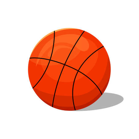 Vector illustration of a basketball ball. Sports equipment.