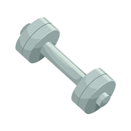 Vector illustration of a dumbbell. Sports equipment.