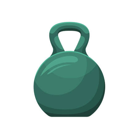 Vector illustration of a kettlebell. Sports equipment Weightlifting.