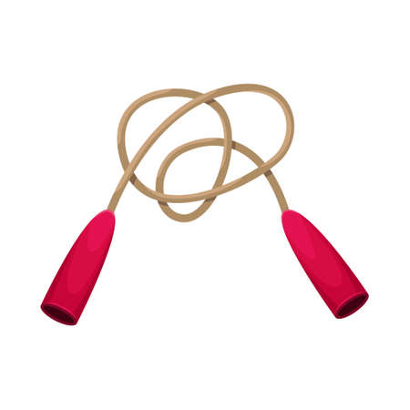Vector illustration of a jump rope. Sports equipment.