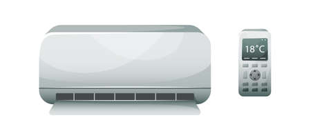 Vector illustration of a household air conditioner Isolated illustration.