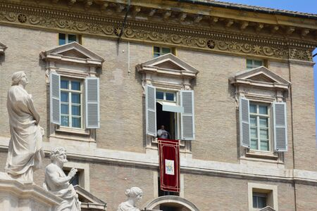 jorge: ROME, ITALY APRIL 19: Pope Francis (Jorge Mario Bergoglio) Audience and Angelus at Saint Peter?s Square on April 19, 2015 in Rome