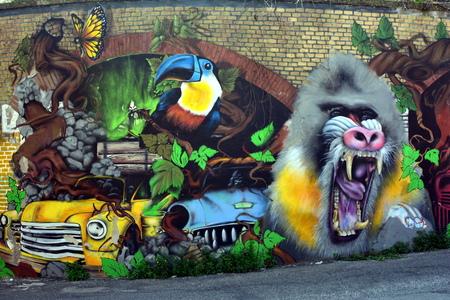 Street Art et Graffiti à Rome Casilina quartier Italie Banque d'images - 39580240