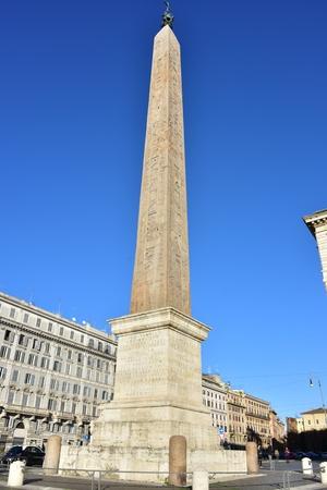 obelisk: Roman obelisk in front of St. John in Lateran Church in Rome