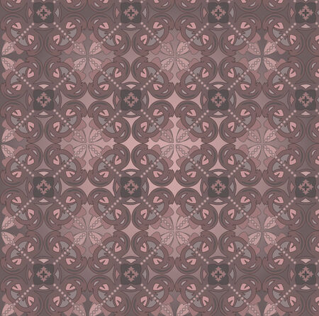 Seamless background with vintage decorative patterns. Vector