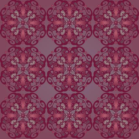 Vintage seamless background with vintage decorative patterns. Vector