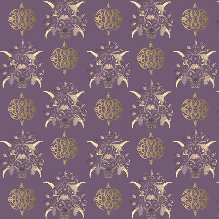 Seamless classic  background with vintage decorative patterns. Vector