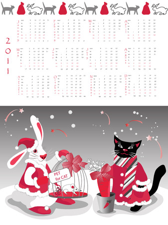 jock: Calendar 2011, year of cat or rabbit