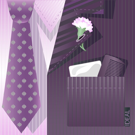 Stylized background with cravat and label.