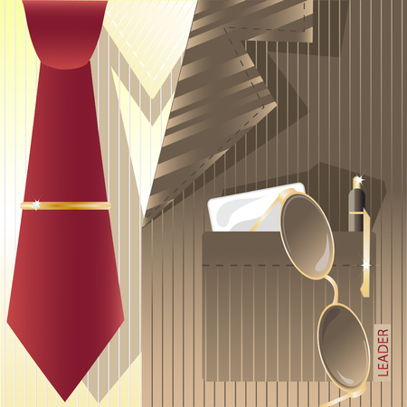 cravat: Stylized background with cravat and label.