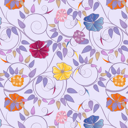 Decorative floral eastern seamless background.  Vector