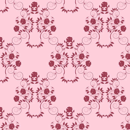 Decorative floral classical seamless background.  Vector