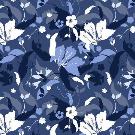gamut: Spring seamless decorative blue background.