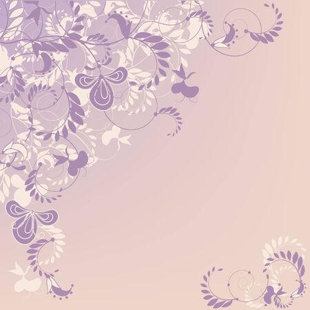 refine: Decorative pastel stylish floral background.