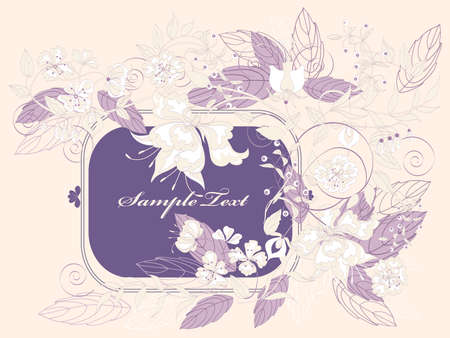 refine: Decorative light floral background with place for text.