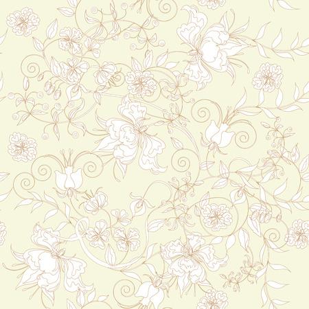 Decoratieve naadloze lichte ivoren achtergrond.  Vector Illustratie