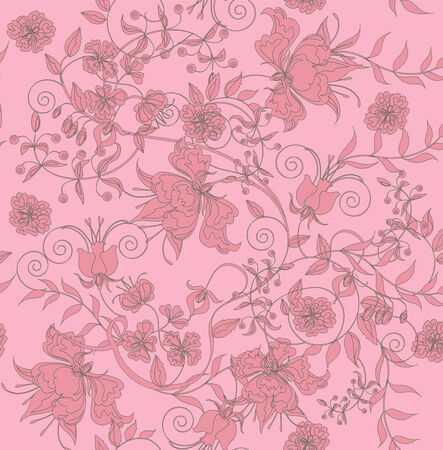 Decorative seamless light rose background.  Vector