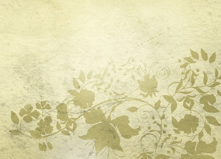 ivory: Classical background with floral decorative pattern.