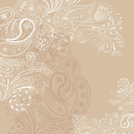 neutral: Eastern beige hand drawn background. Illustration