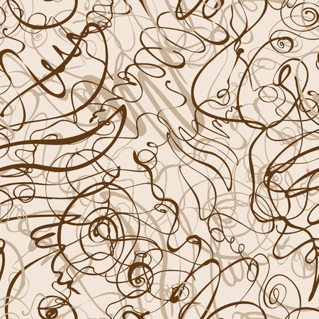 Abstract seamless background with hand drawn doodles.