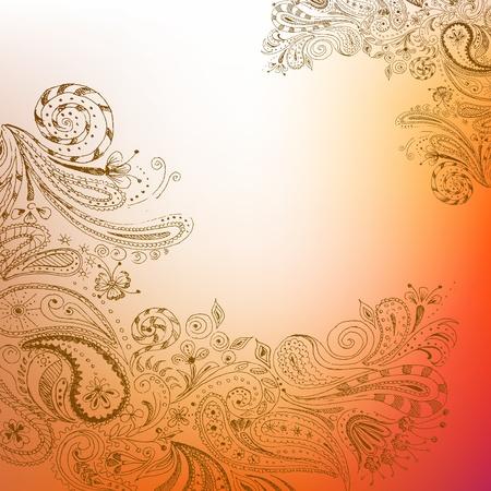 Eastern stylish hand drawn background.