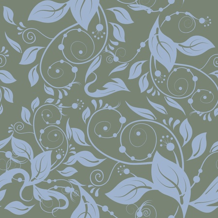 nuance: Classic floral seamless gray background.
