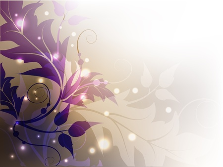 and shining: Classic floral shining decorative violet background.