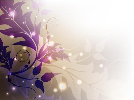 contrast floral: Classic floral shining decorative violet background.
