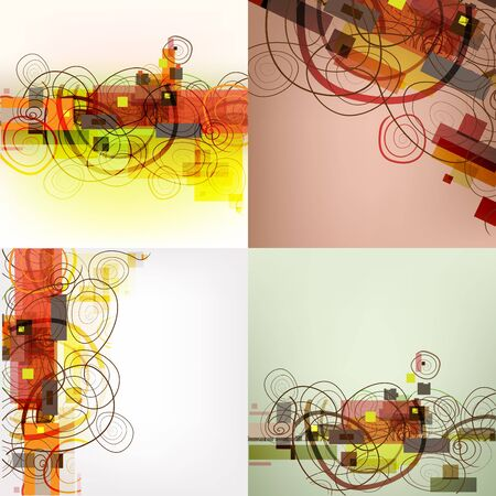 brawn: Set of 4 abstract geometrical backgrounds.