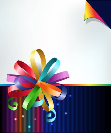 Stylish colorful background with rainbow bow.  Stock Vector - 11515680