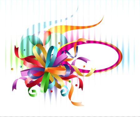 Stylish colorful background with rainbow bow and place for text. Stock Vector - 11515688