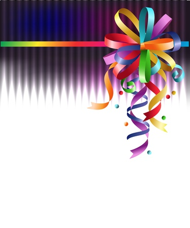 Stylish colorful background with rainbow bow.