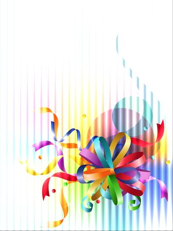 Stylish colorful background with rainbow bow.  Vector