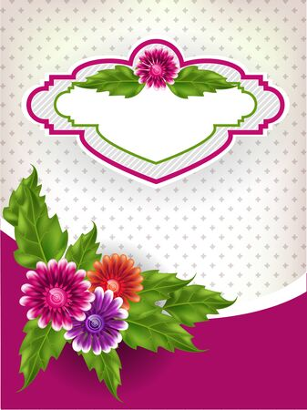Vintage background with multicolored gradient mesh flowers. Vector