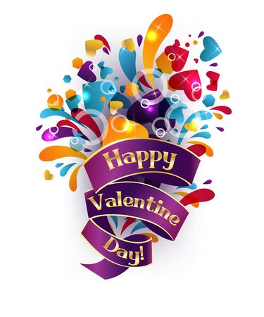 Festive Valentine colorful background, with text. Stock Vector - 11841347