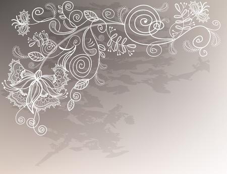 refine: Affina sfondo matrimonio con fiore decorativo in pizzo bianco.