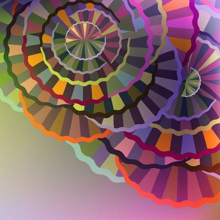 cycles: Multicolore fond abstrait avec des cycles g�om�triques.