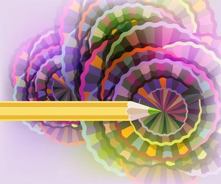 cicla: Resumen de fondo con un lápiz amarillo.