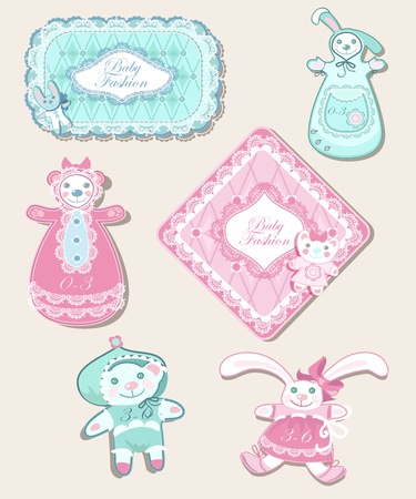 new born baby girl: Tender vintage new born baby fashion set.