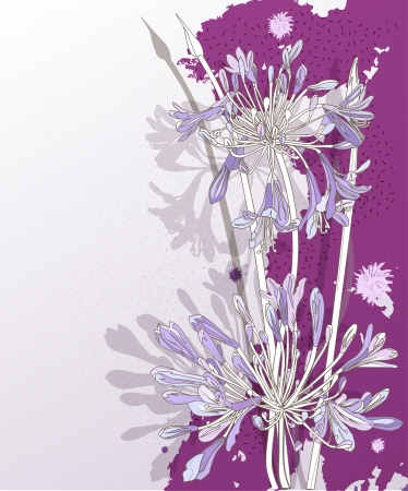 refine: Background with violet graphic flowers.