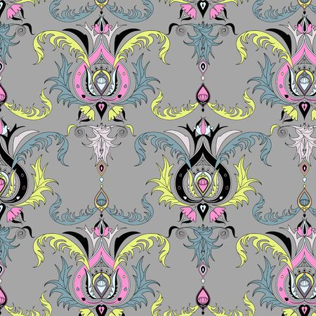 repeatable: Seamless background with classical ornamental patterns.