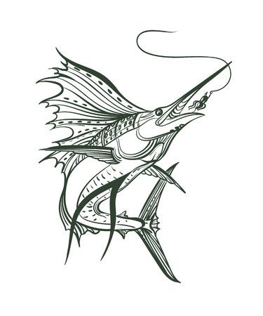 Sailfish vector graphic illustration. Illustration