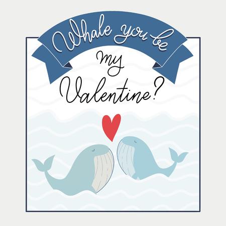 너는 고래와 함께 내 발렌타인 텍스트가 될 것인가?