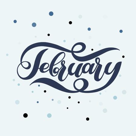 February winter handwritten lettering.