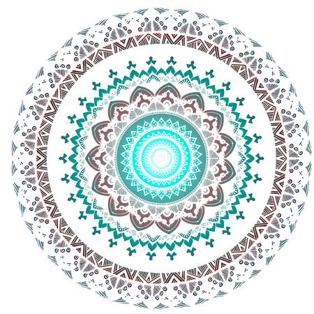 Abstract mandala in spring color. Elements for invitations, posters, greeting cards
