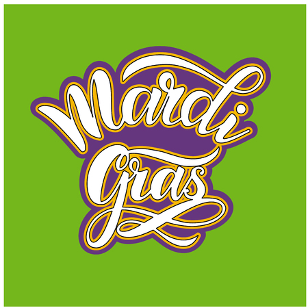 Mardi Gras Carnival Lettering. Elements for invitations, posters, greeting cards