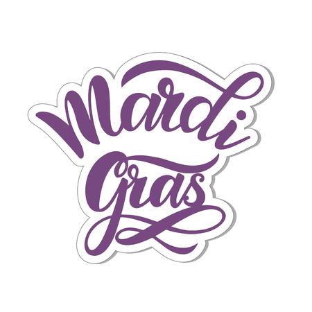 Mardi Gras Carnaval-letters. Elementen voor uitnodigingen, posters, wenskaarten