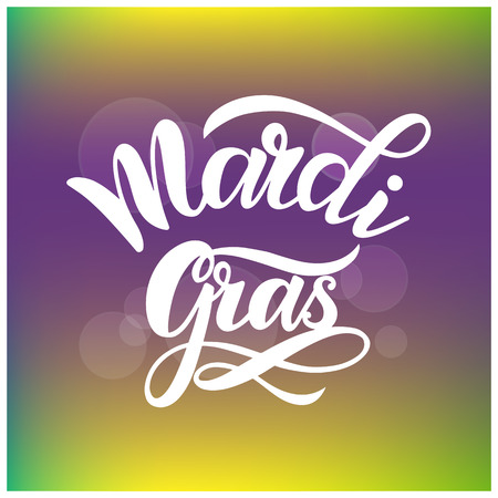 Mardi Gras Carnaval-letters. Elementen voor uitnodigingen, posters, wenskaarten Stockfoto - 94975552