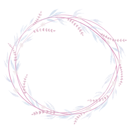 Wreath hand drawn vector set. Wedding floral wreaths. Elements for invitations, posters, greeting cards.